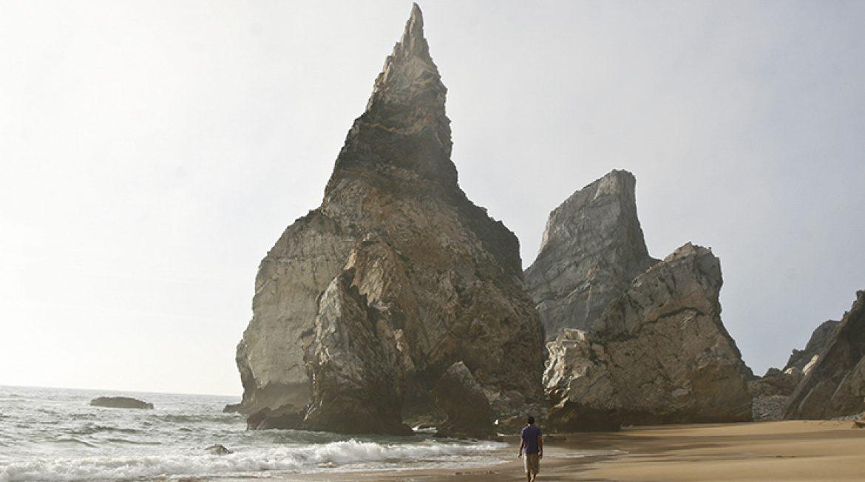 Rocky mountain in Ursa beach Portugal