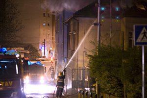 Fireman putting down the fire
