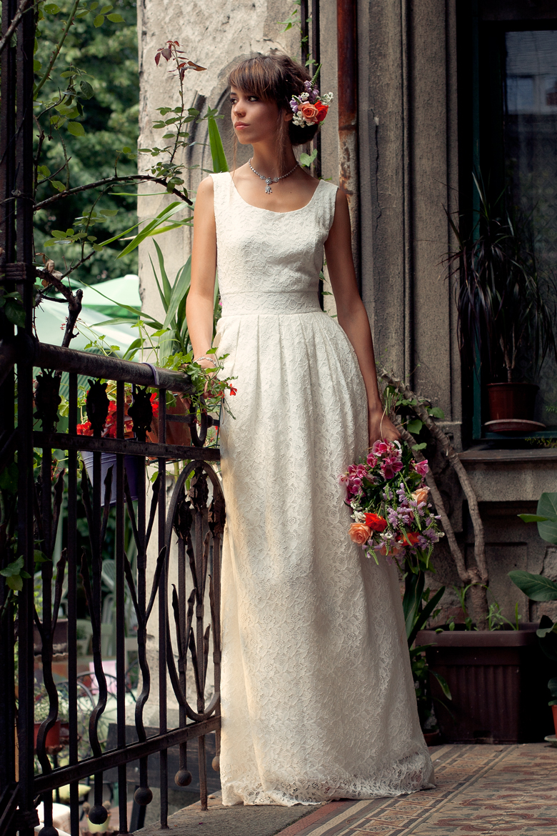 wedding dress fashion model