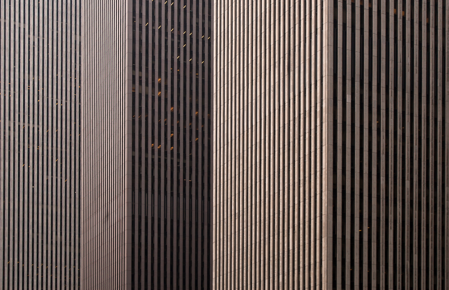Skyscrapers facades in Manhattan