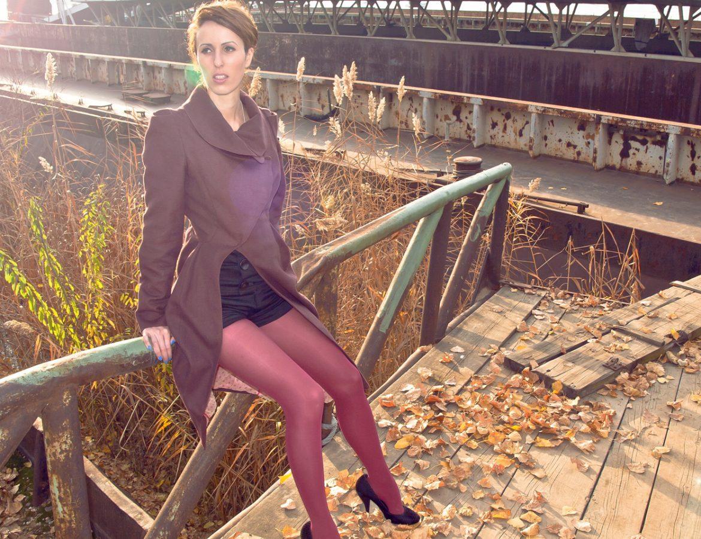 Model in Maarko Glavinic coat