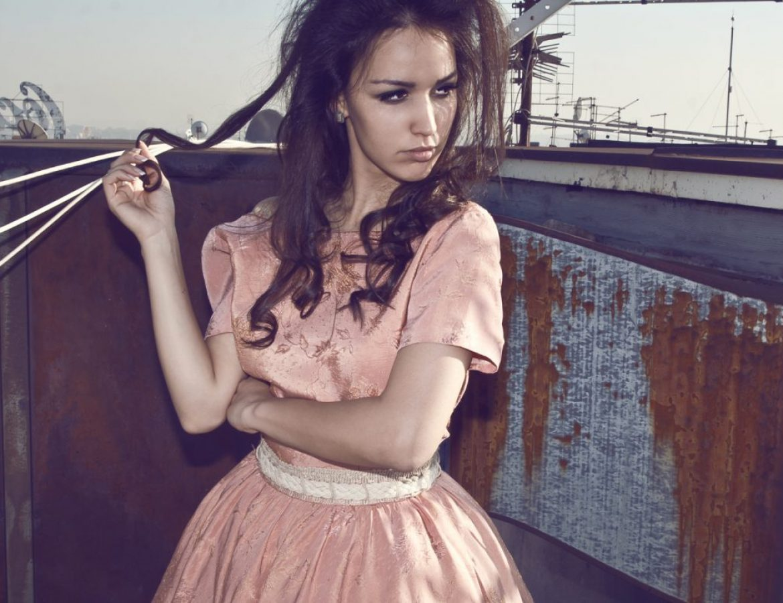 Model in dress