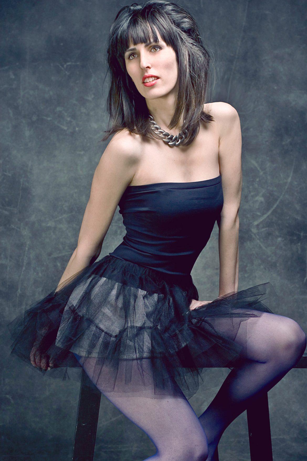 Model in skirt