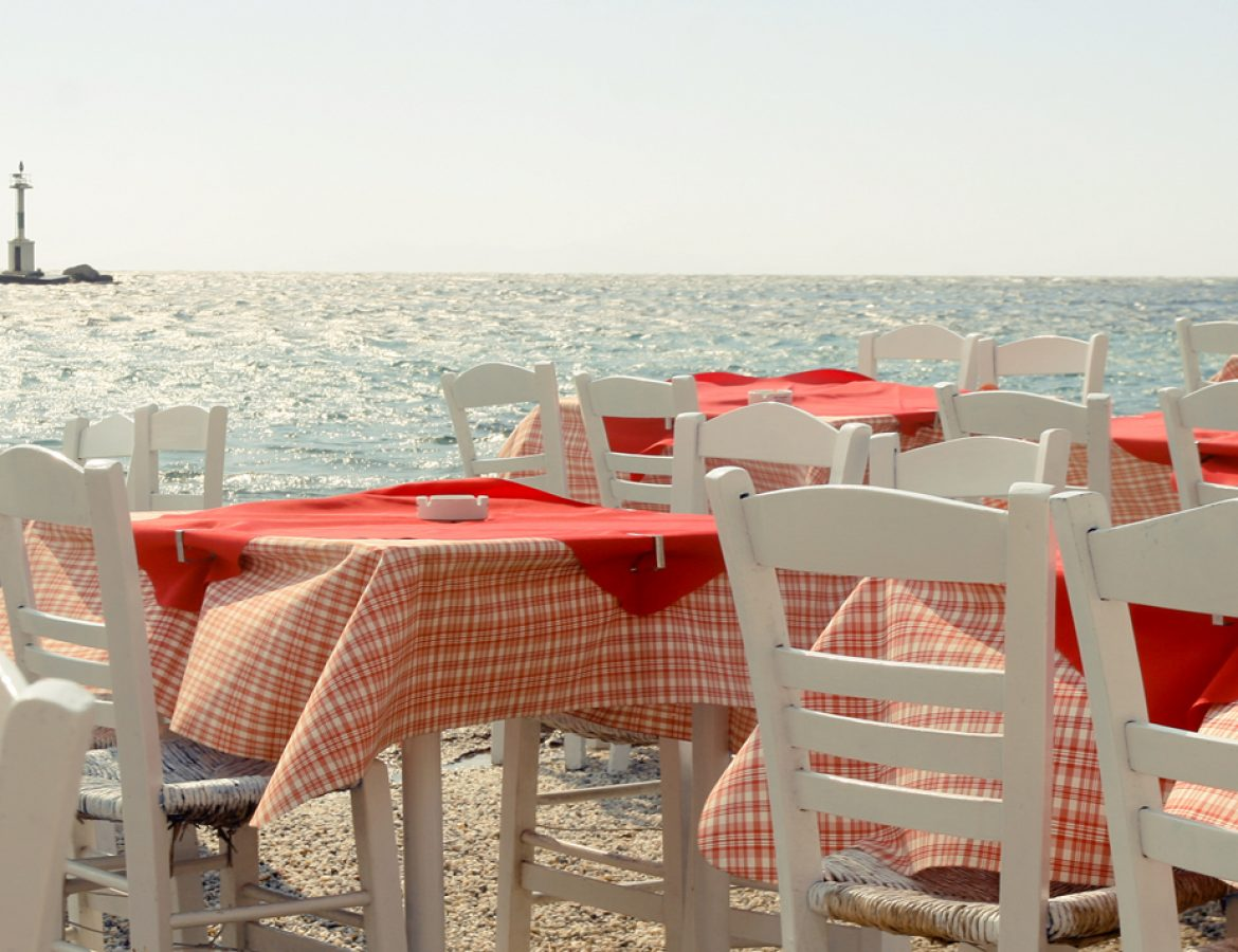 Mykonos seaside restaurant