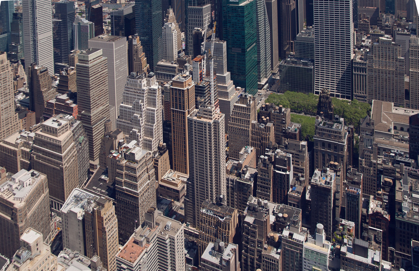 View on tall buildings from Empire state Building