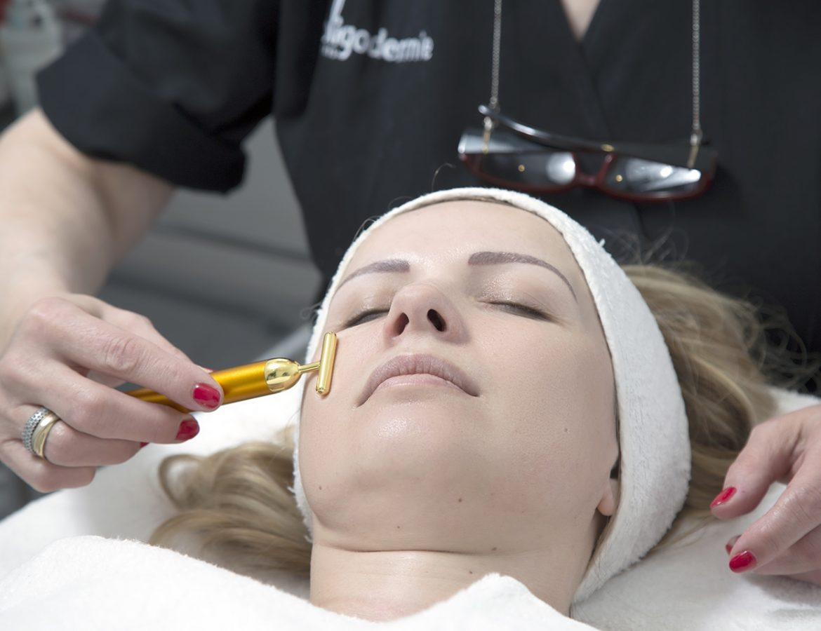 Oligodermie face massage