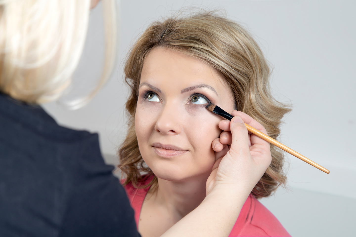 Make up artist working