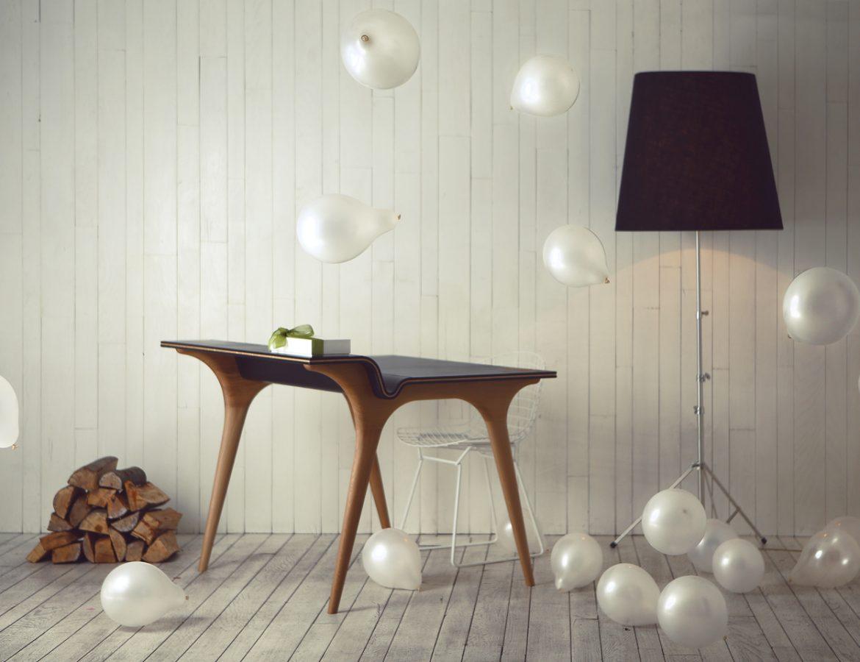 irina bocvarski table with baloons