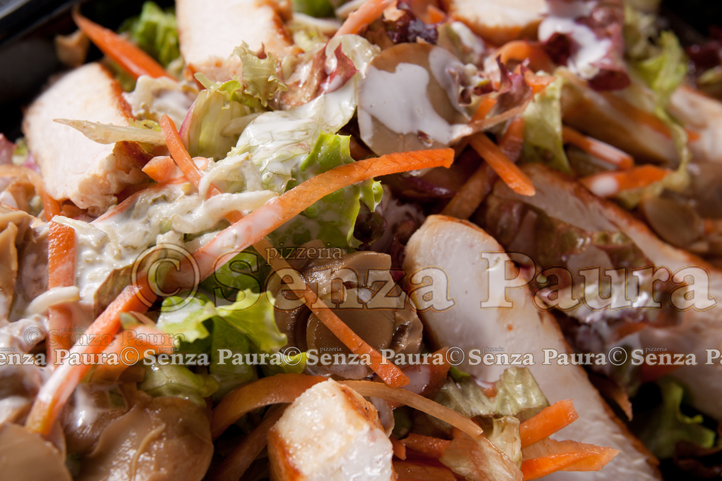 meat and vegetable salad