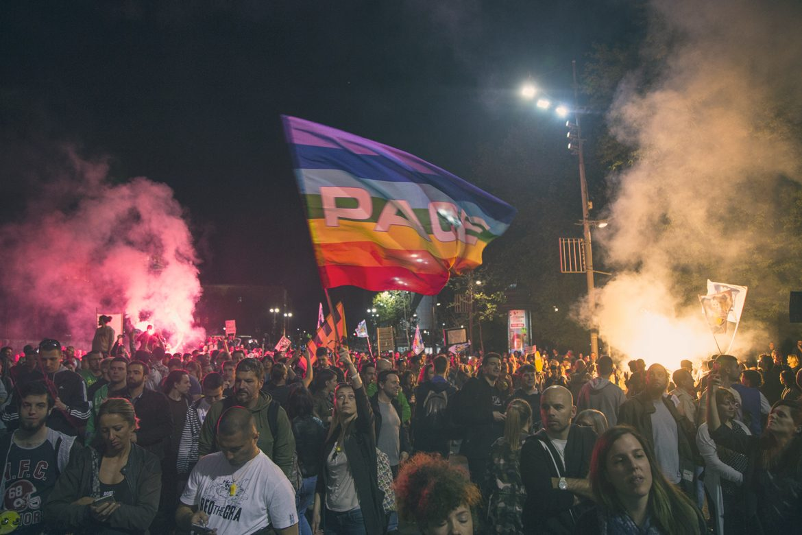 Protest Pace Flag
