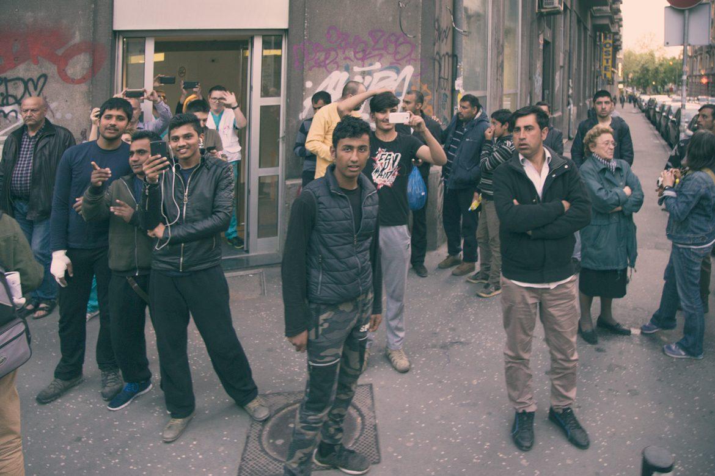 Protest migrants