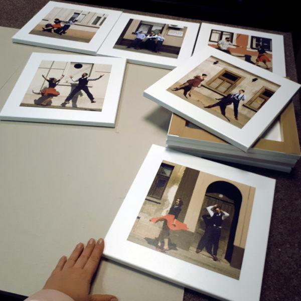 Photo Prints on table