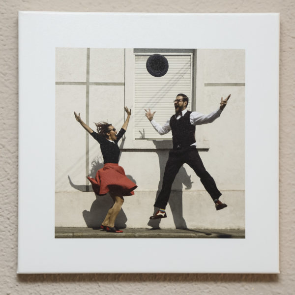 Lindy Hop Canvas Print on the wall