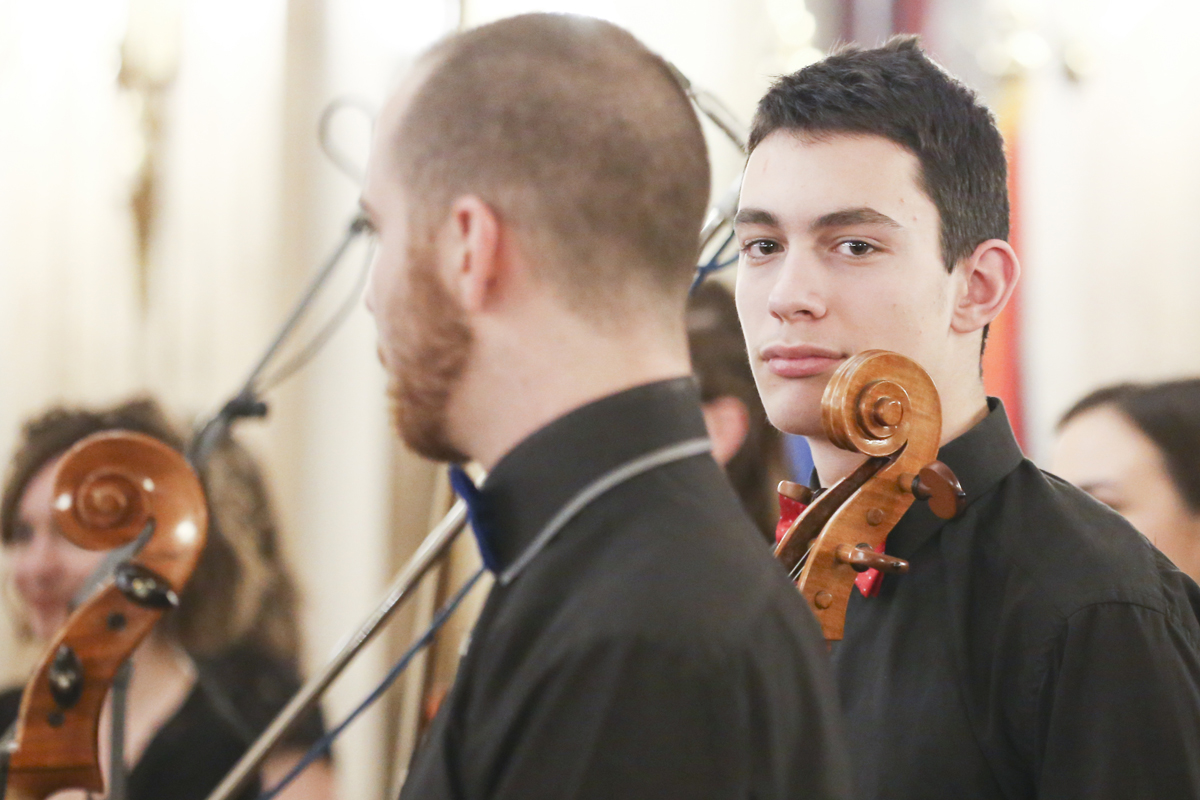 Young Musician looking straight at camera