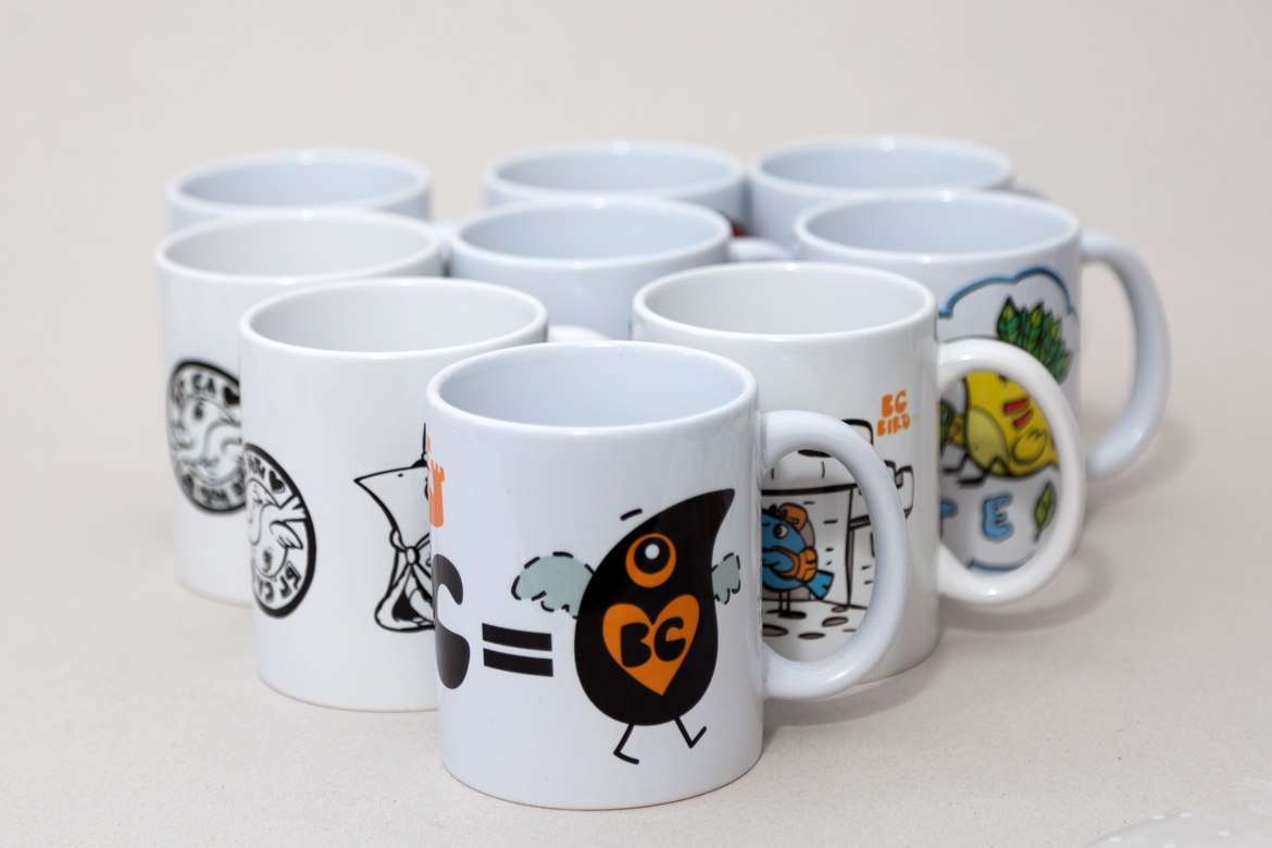 Collection of various Ceramic tea mugs