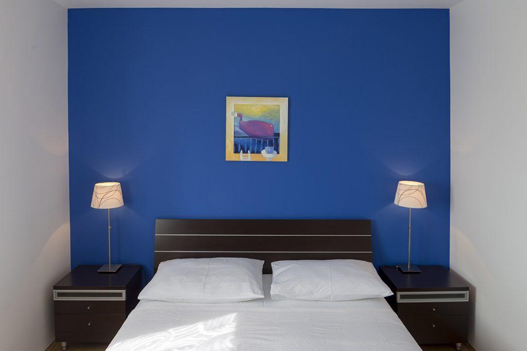 Blue double bedroom