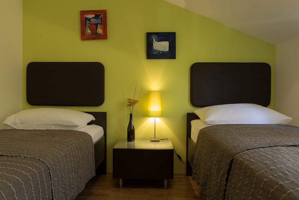 Attic green Twin Bedroom